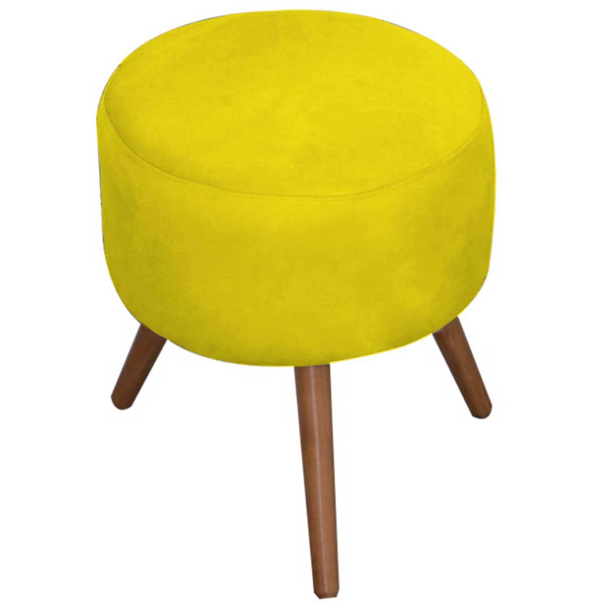 Kit 2 Puff Milão Decorativos Pé Palito Animale Amarelo