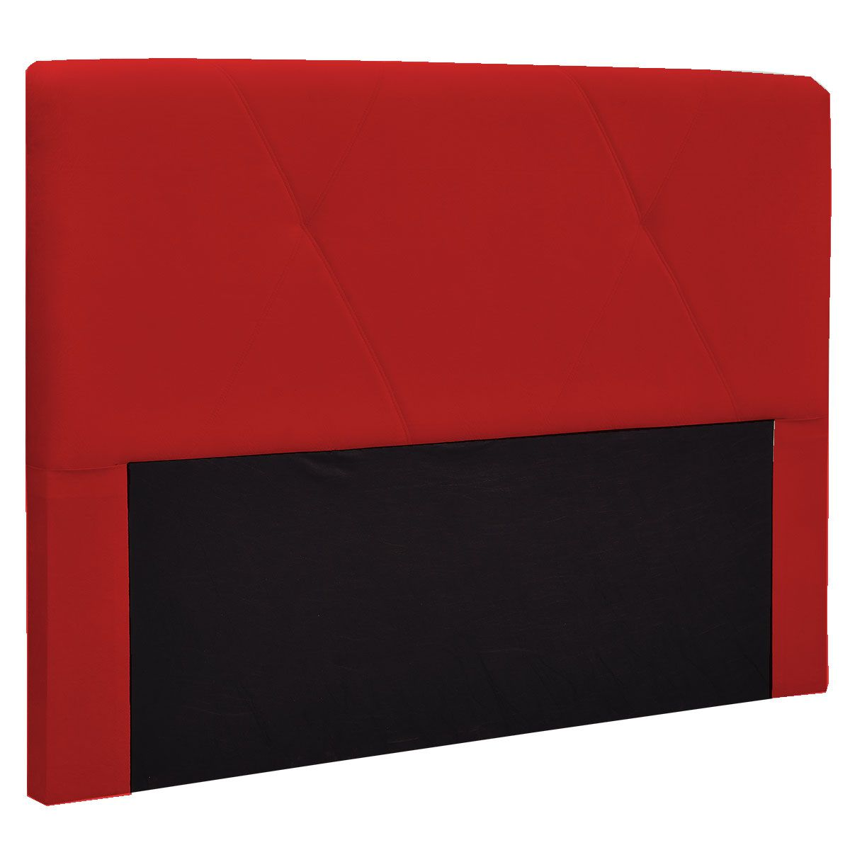 Kit Cabeceira Malu e Calçadeira Kiara King 195 cm Vermelho