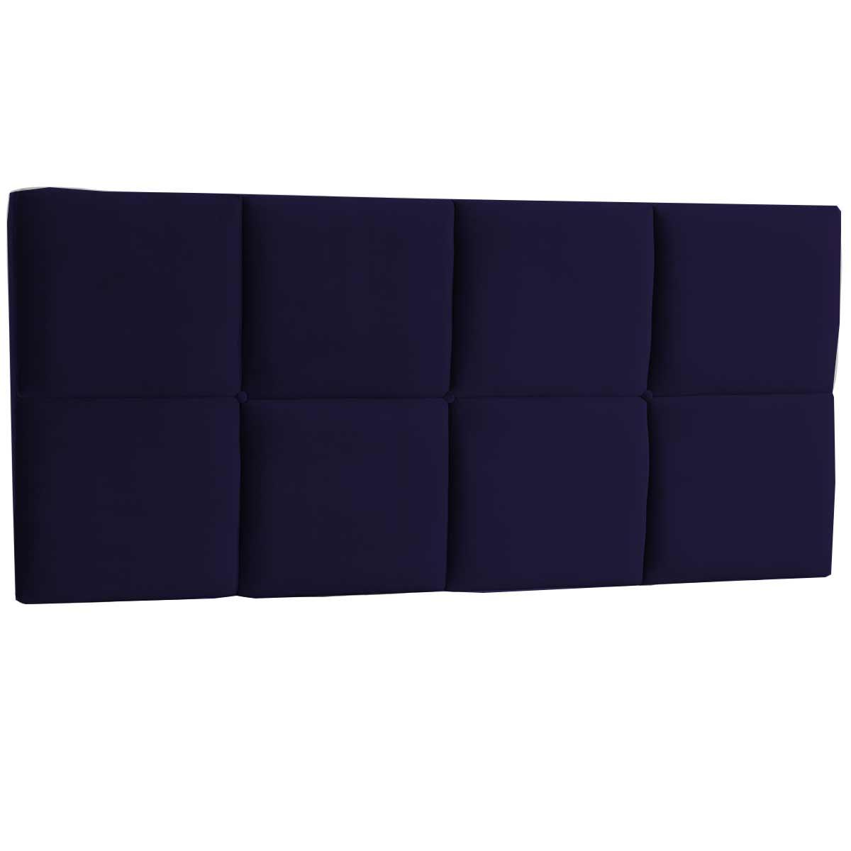 Cabeceira Painel Casal Estofada Poliana 140 cm Azul Marinho