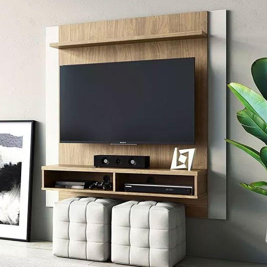 "Painel Home Capri Avelã/Off White Linea Brasil Tv Até 42"""