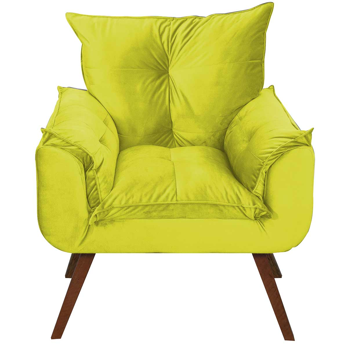 Poltrona Decorativa Opala  Animale Amarelo