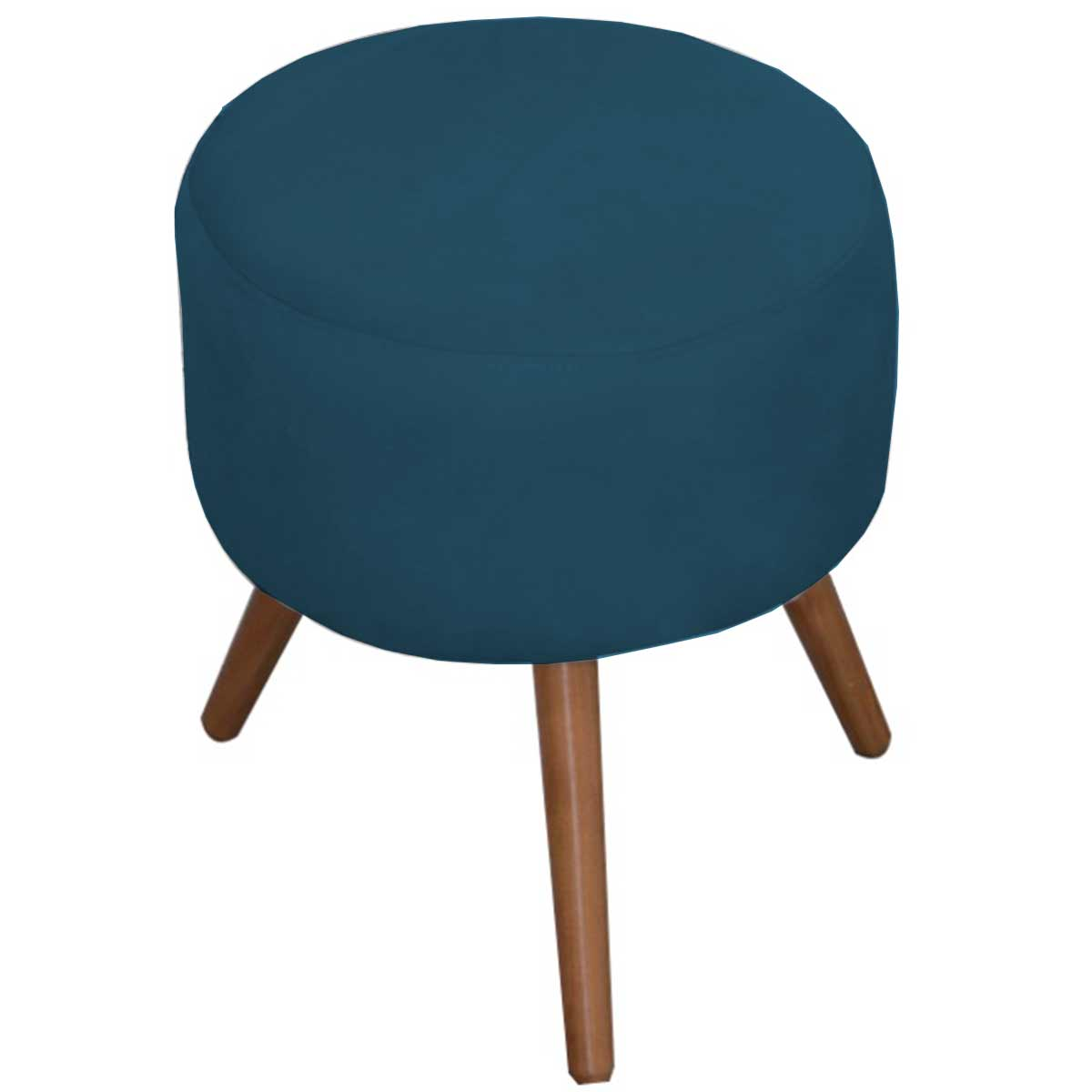 Puff Decorativo Milão Pé Palito Animale Azul Turquesa