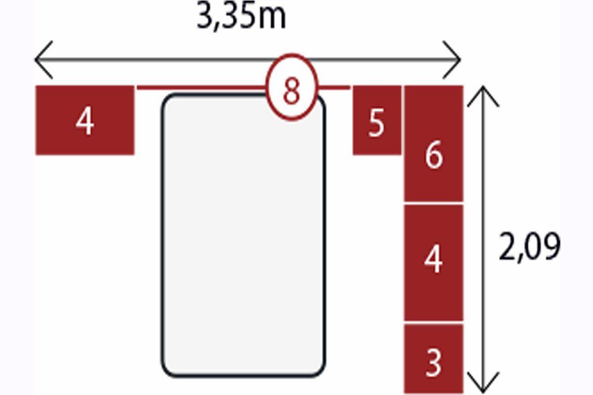 Quarto Modulado de Casal 7 Módena 8 Peças Branco Demóbile
