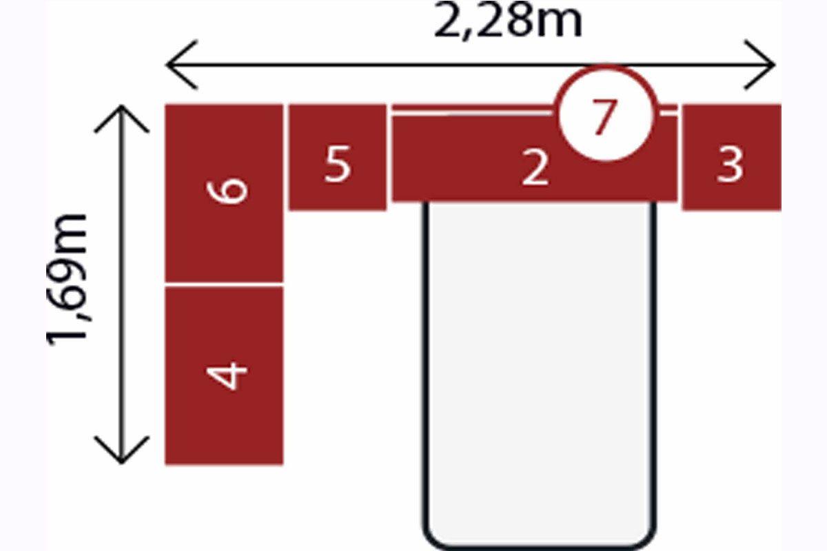 Quarto Modulado Solteiro 12 Módena 6 Peças Branco Demóbile