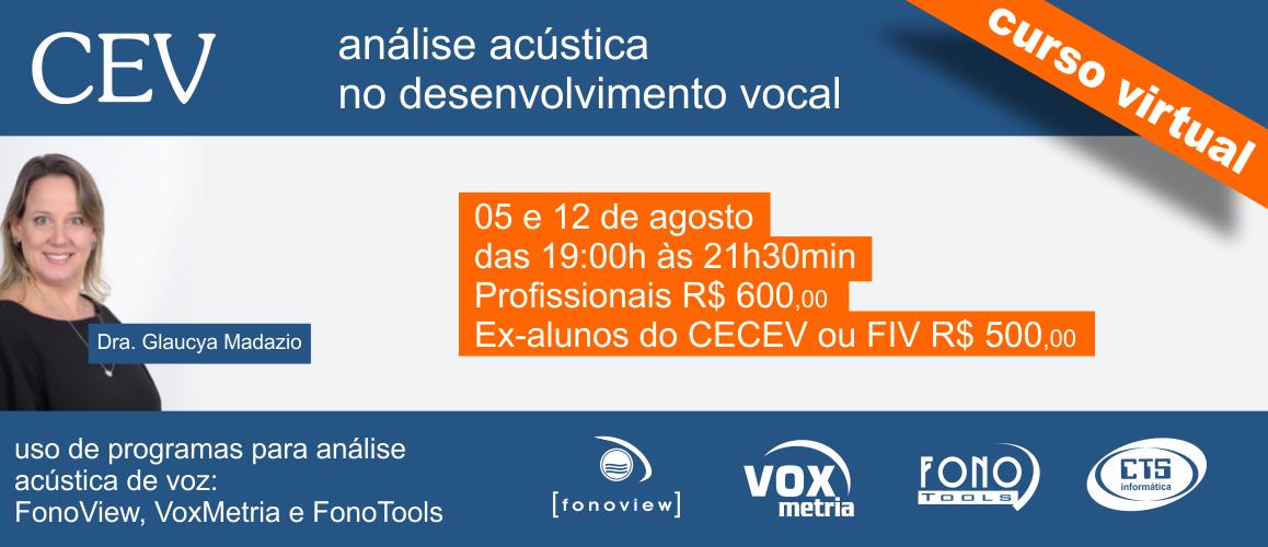 Curso de Análise Acústica no Desenvolvimento Vocal
