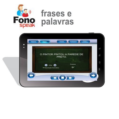 App FonoSpeak - Treinamento dos Fonemas - Frases e Palavras  - CTS Informática