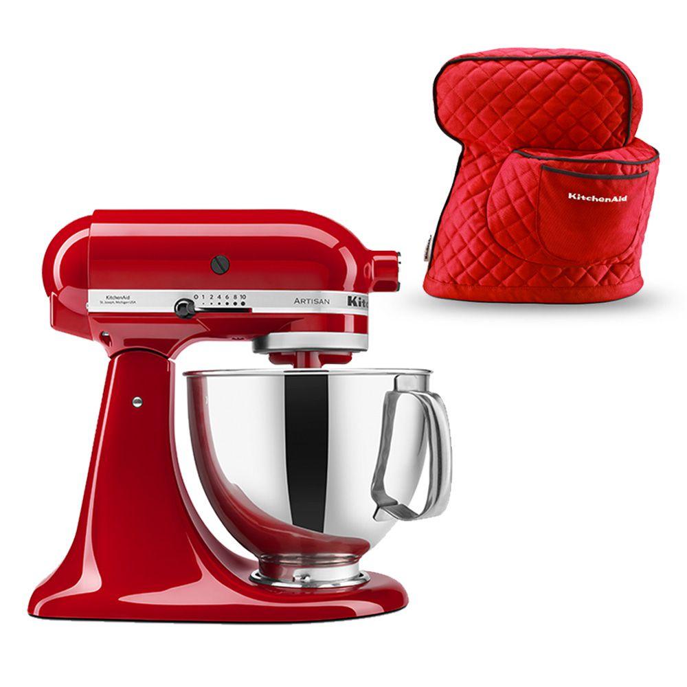 62da9ab8c KIT Batedeira Stand Mixer KitchenAid Empire Red + Capa de Proteção  KitchenAid Vermelha - 110V - KEA33CVANA