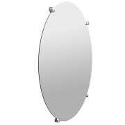 Espelho de Banheiro Casa 3mm Com Botão Francês Redondo 30cm