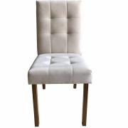 Kit 2 Cadeira Estofada pra Mesa Sala Jantar Pé Madeira Bruna
