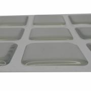 Kit 9 Silicone Vidro Proteção Adesivo Quadrado 2,5 x 2,5 cm