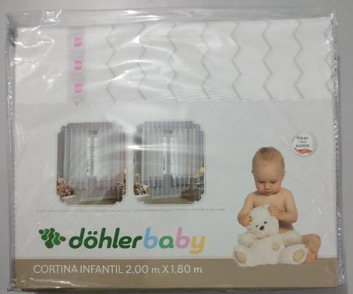 Cortina Infantil Com Ilhos Olga 2 X 1,8 M Dohler