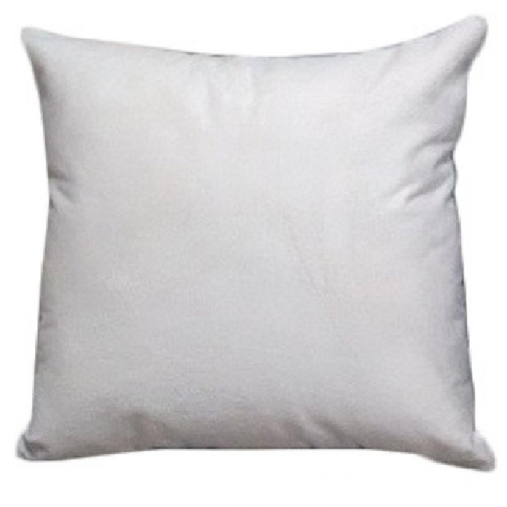 Almofada Decorativa de Tecido Com Zíper 100% Fibras 43x43cm