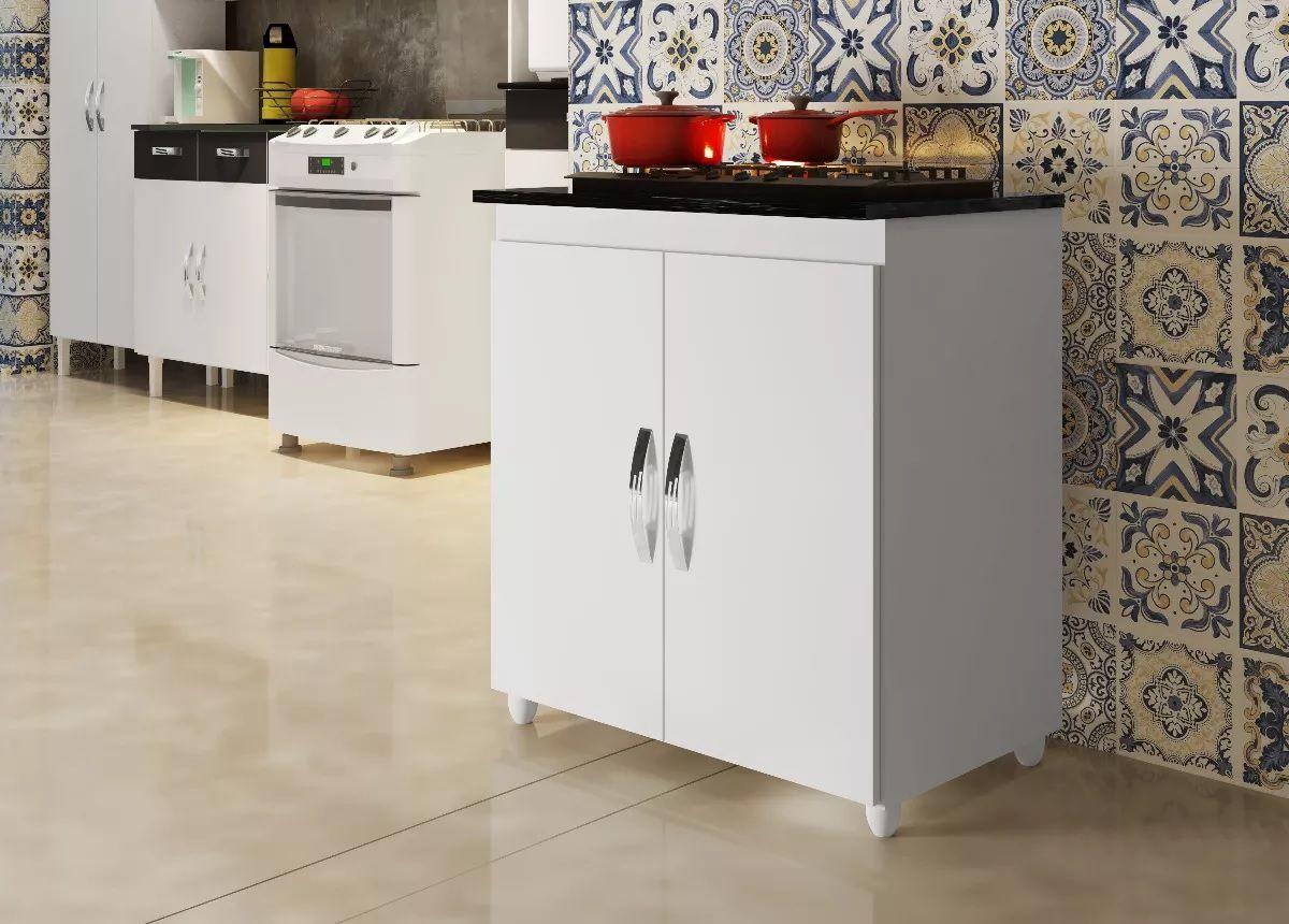 Balcão Cooktop 5 Bocas Fox Armário Para Cozinha Casa Textura
