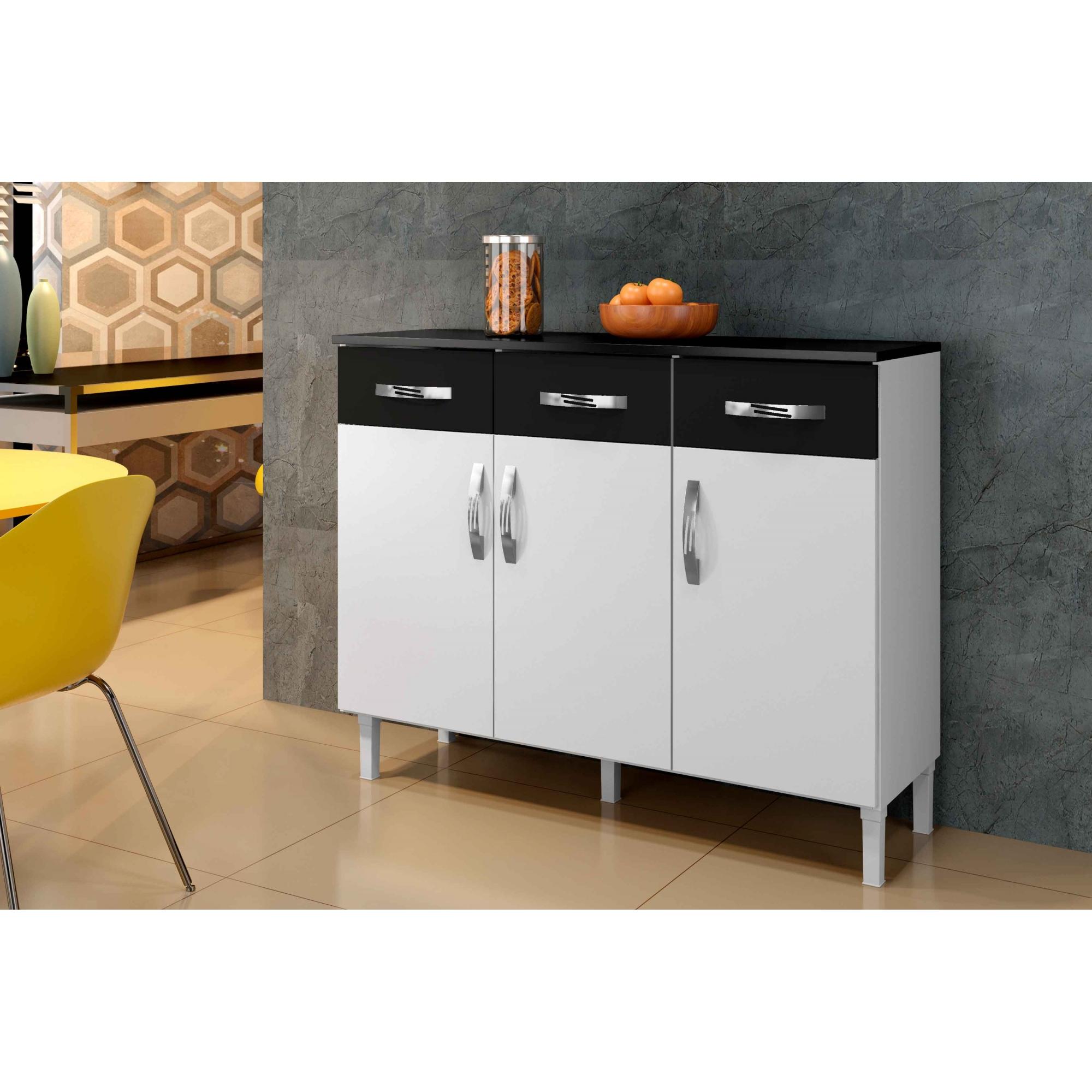 Balcão Max Armário para Cozinha Área de Serviço Branco