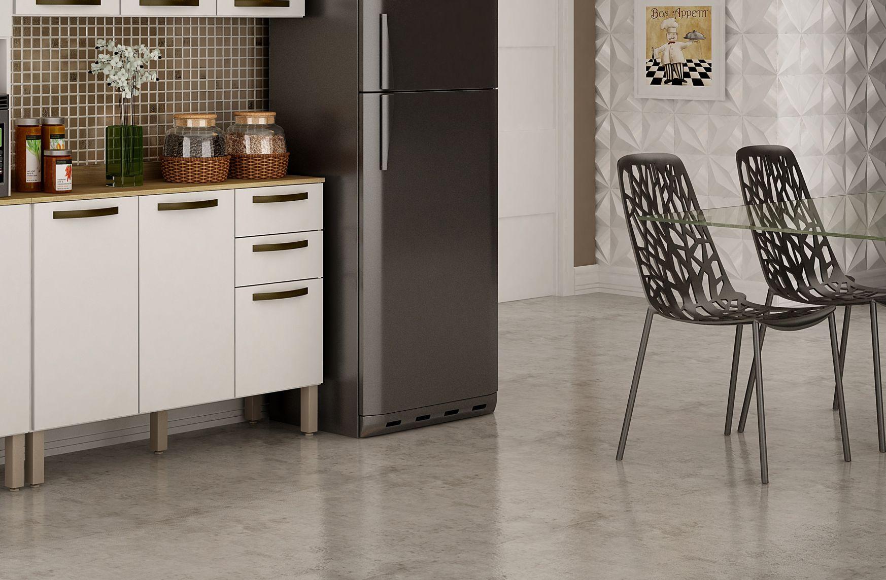 Balcão Valência 2 portas Armário pra Cozinha de Casa Salleto