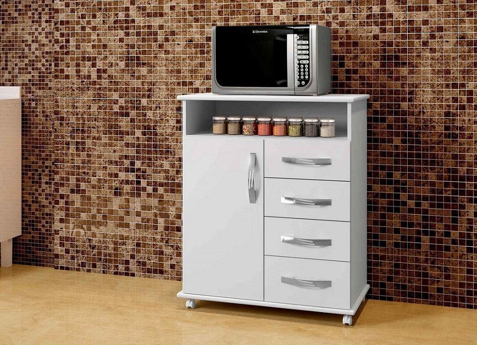 Balcão Vitória Armário de Cozinha Casa Área Serviço Branco