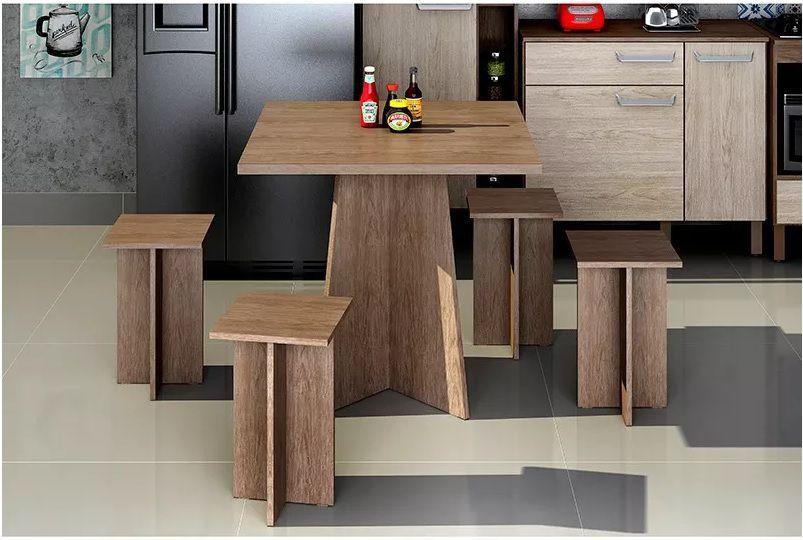 Banco para Mesa de Jantar Decari Palmeira Modelo 31000