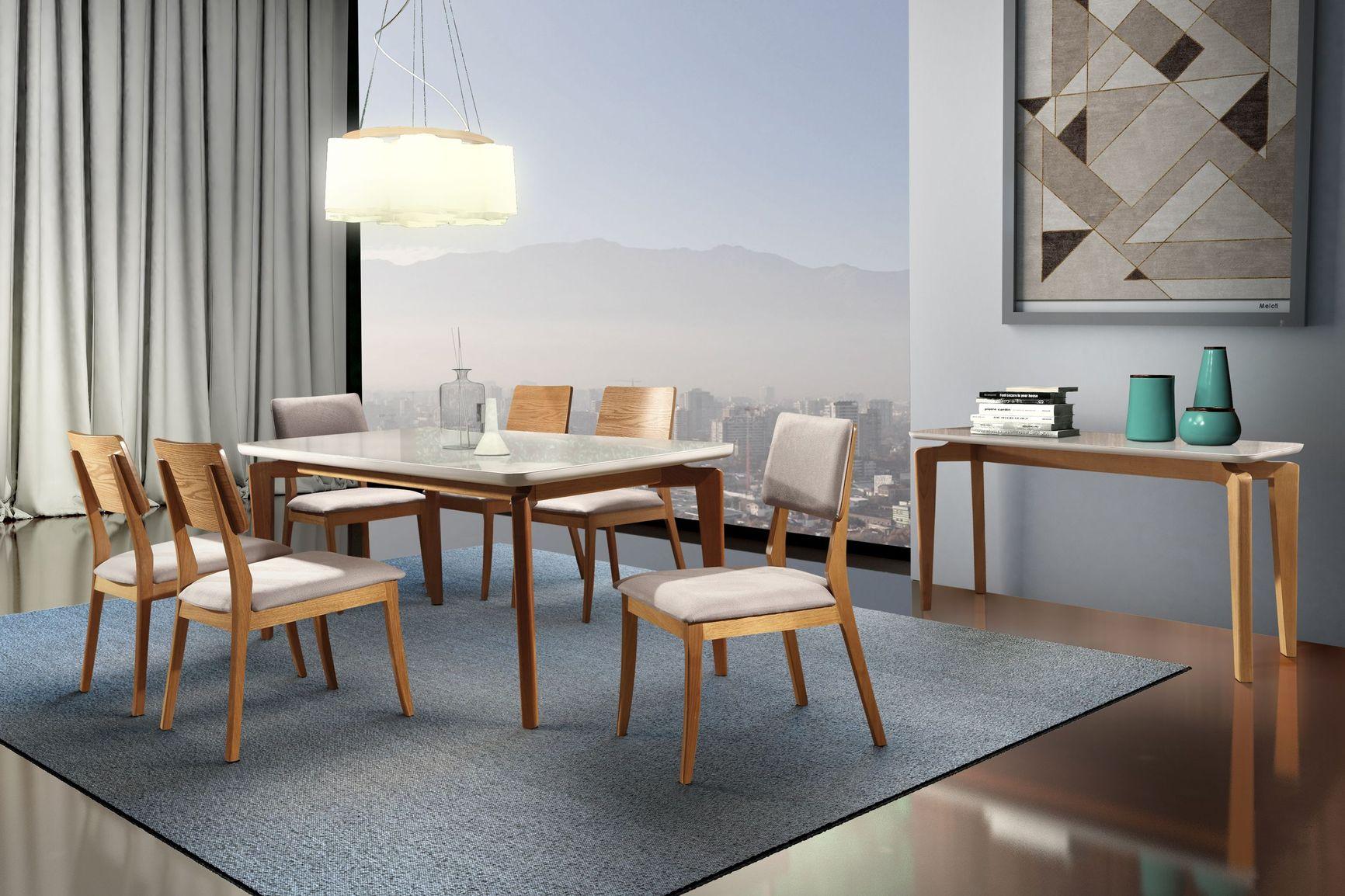 Base Florença Mesa Sala de Jantar Tradição Tampo 160x90cm