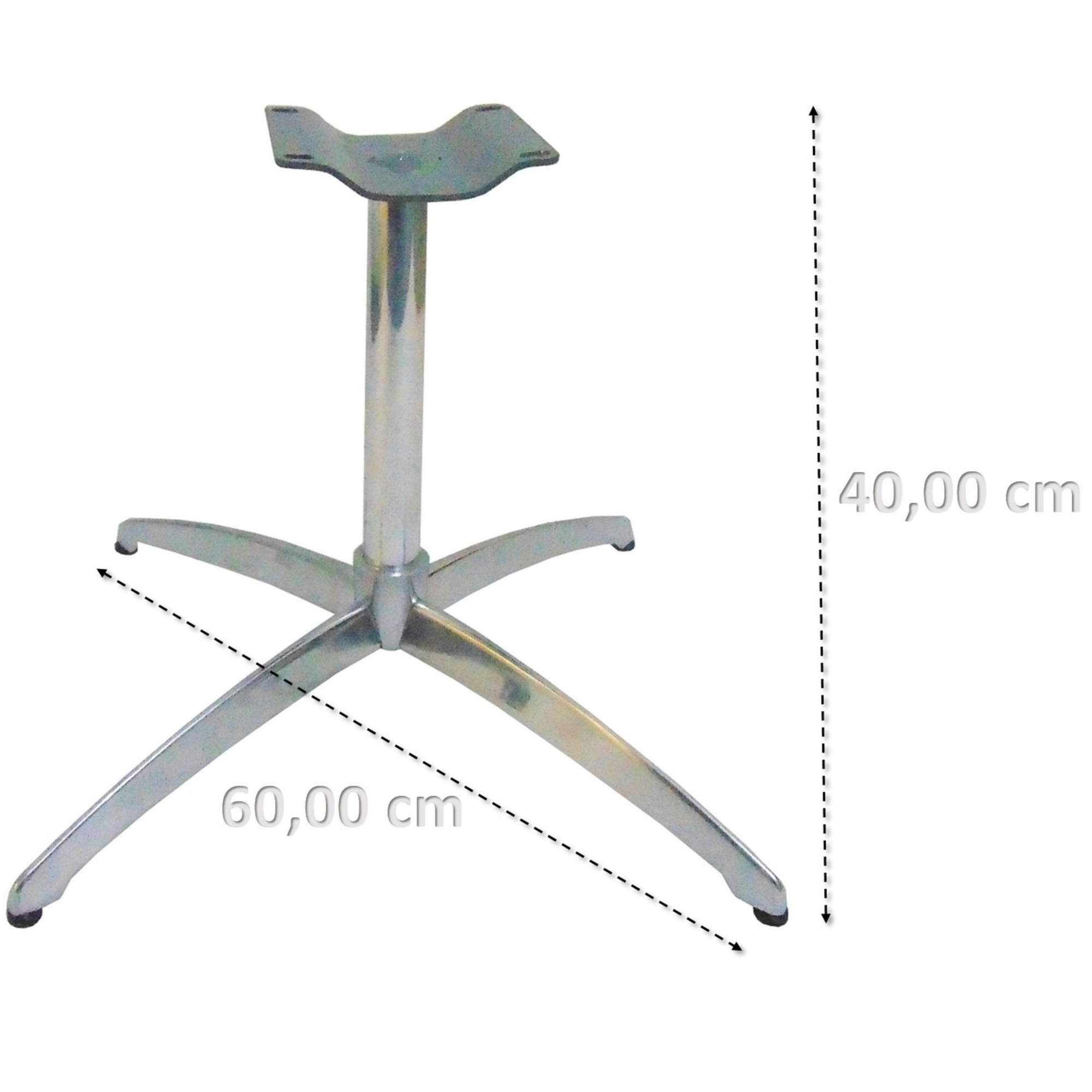 Base Giratória Curva De Alumínio para Poltrona Altura 40cm