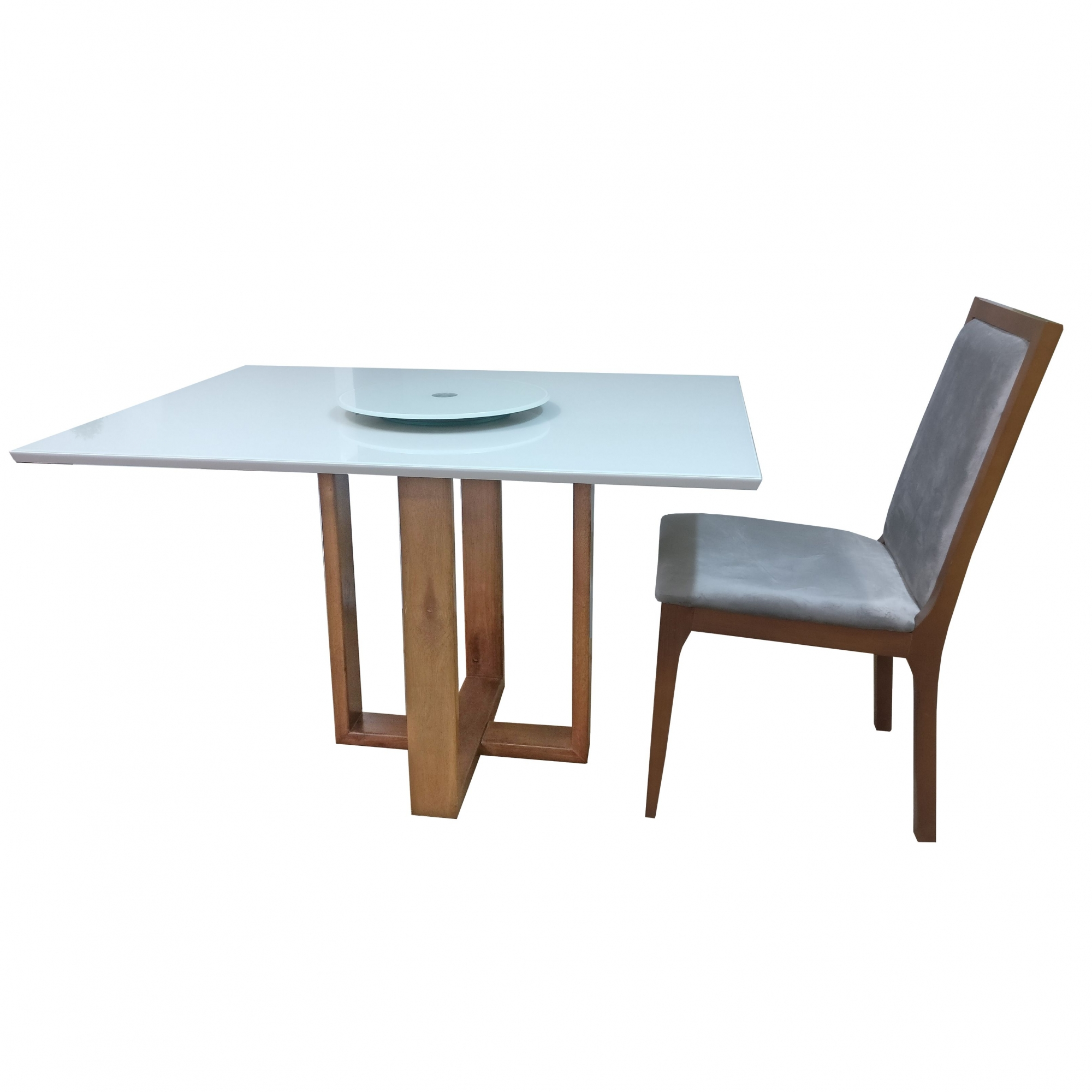Base para Mesa Sala de Jantar em Madeira Ametista 55x55cm