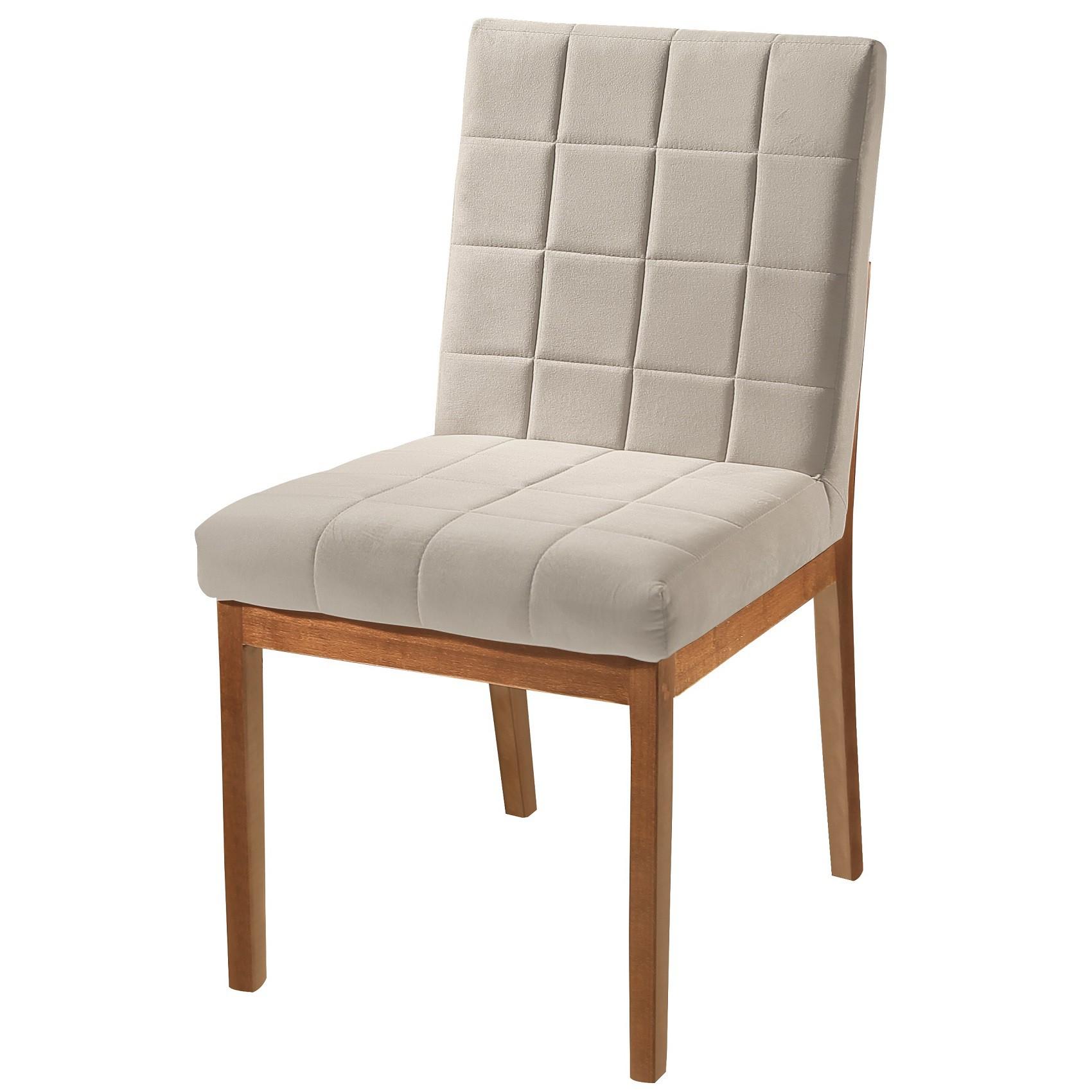 Kit 2 Cadeira Planus Madeira para Mesa Sala Jantar Tradição