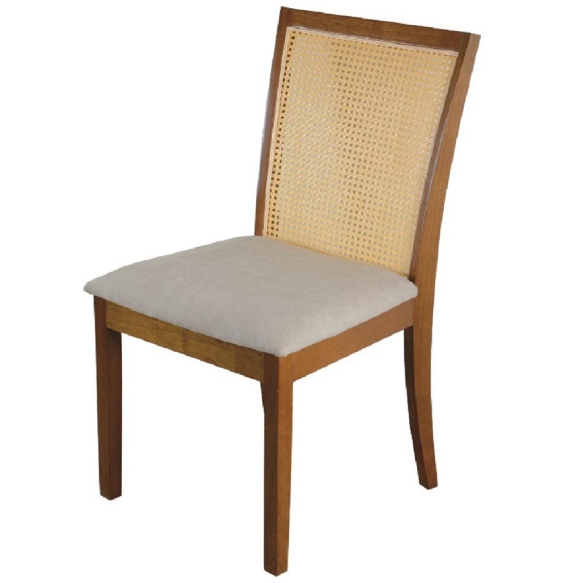 Kit 2 Cadeira Roma Madeira para Mesa Sala Jantar Tradição