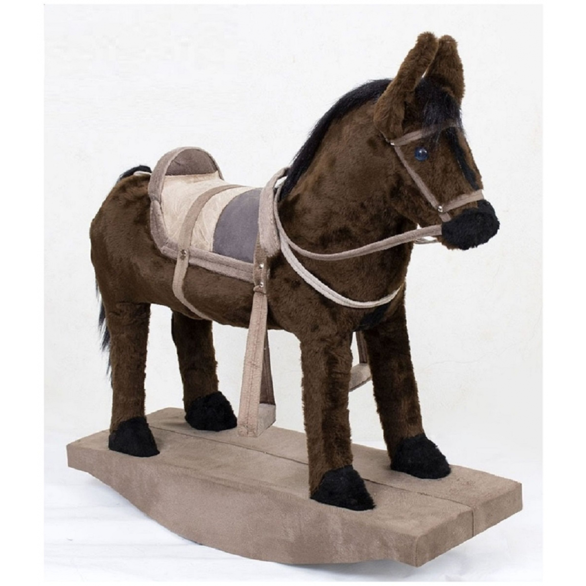 Cavalinho De Balanço Brinquedo Fazendinha Cavalo De Sela