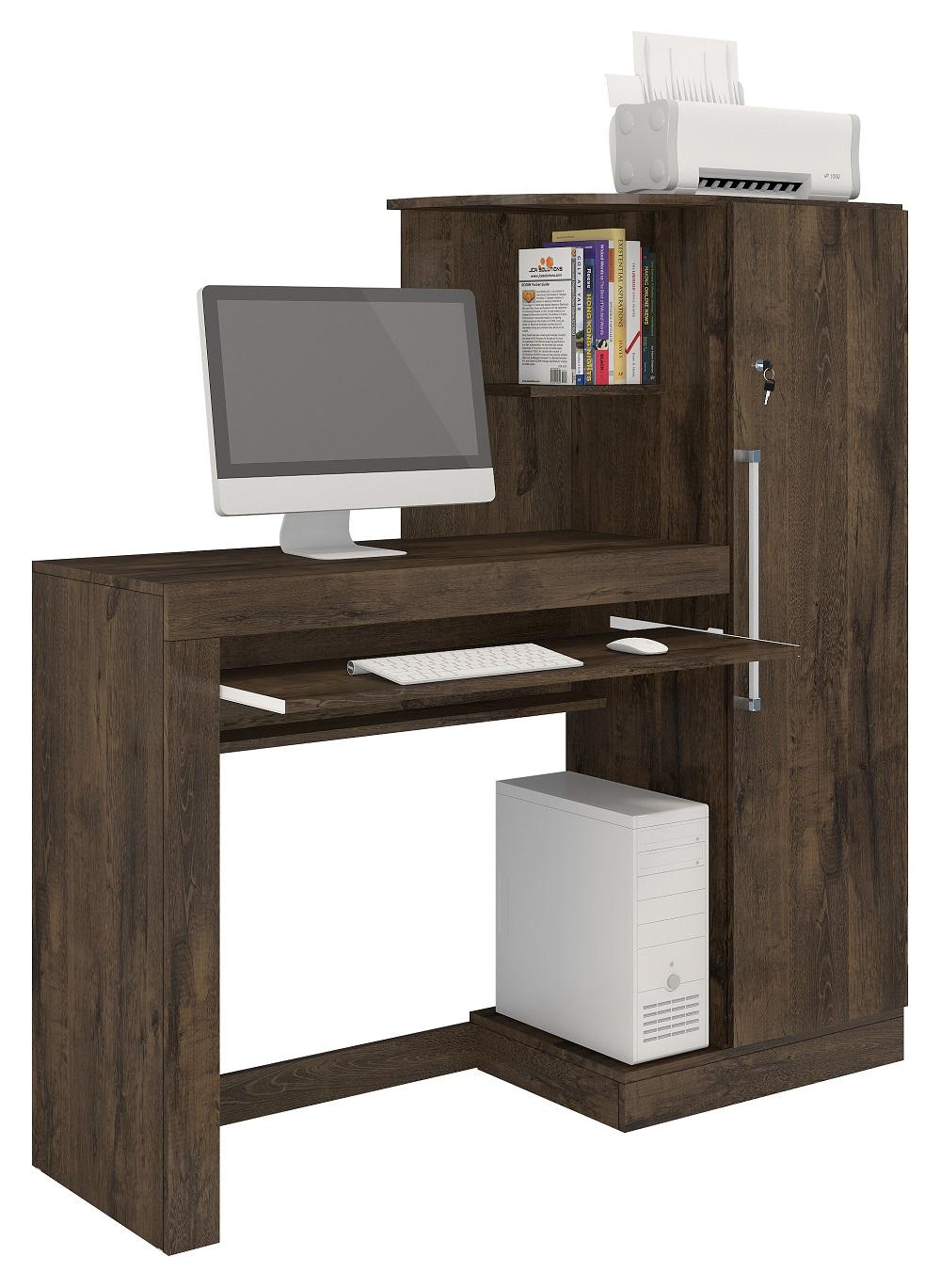 Escrivaninha Aroeira Mesa de Computador Escritório Casa JCM