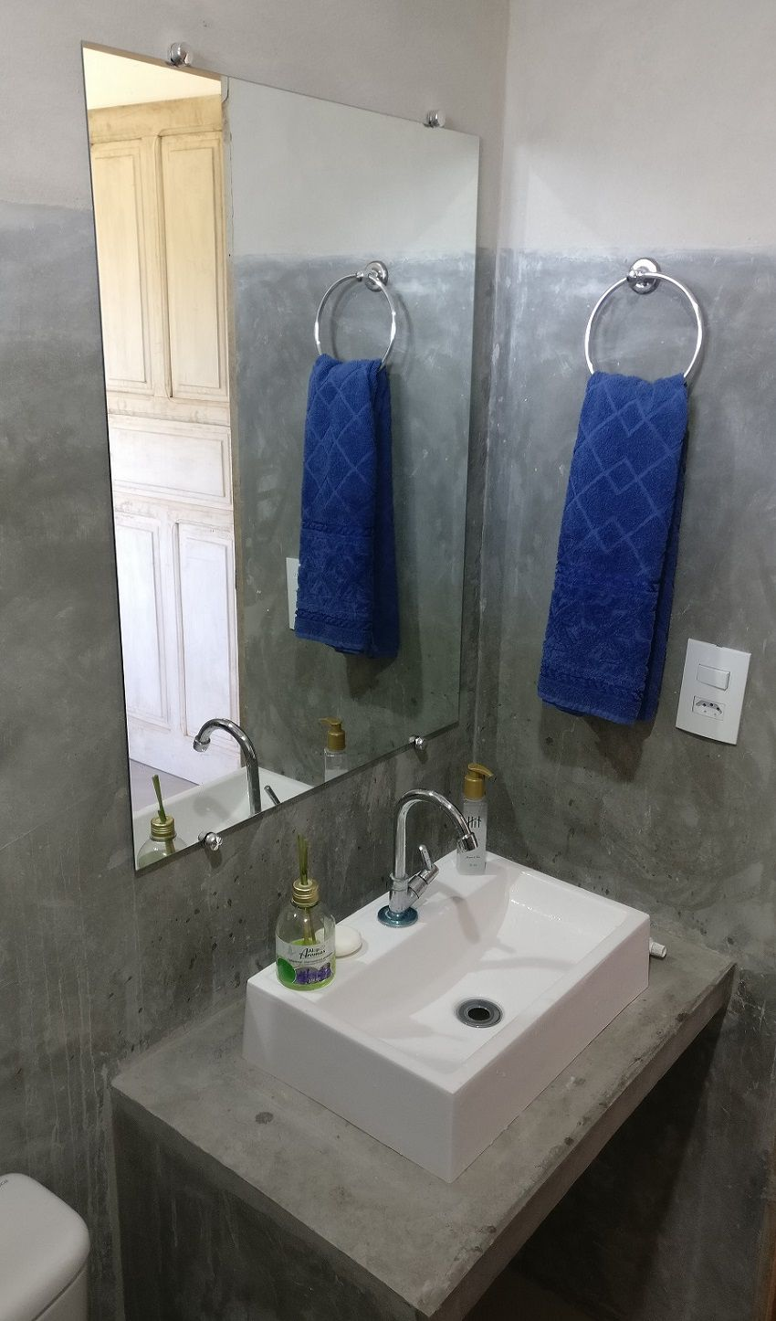 Espelho Para Banheiro Casa 3mm Com Botão Francês 80 X 60 Cm