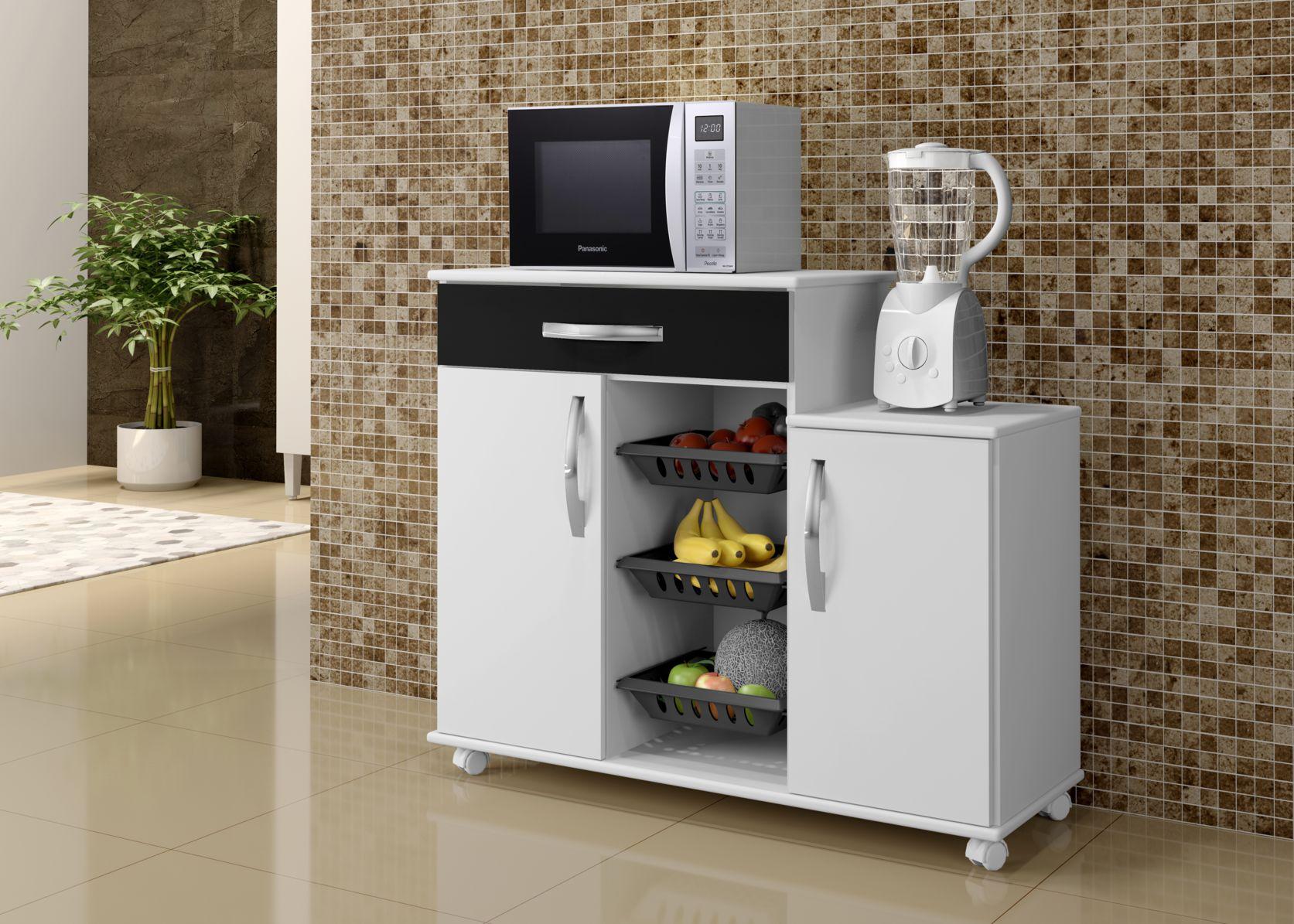 Fruteira Teresina Armário de Cozinha Área com Gaveta Porta