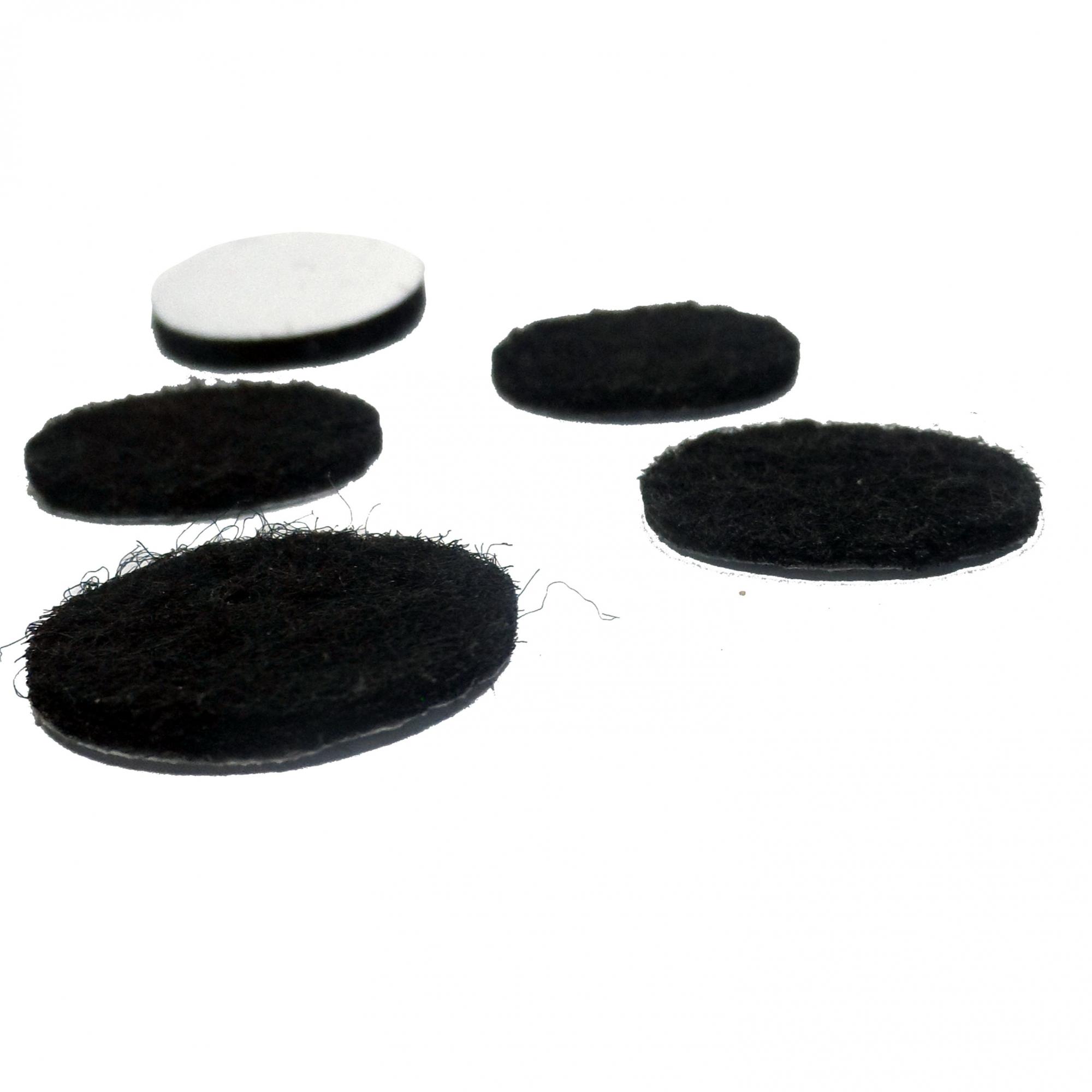 Kit 100 Carpete Proteção Adesivo Preto Redondo Móveis 2cm