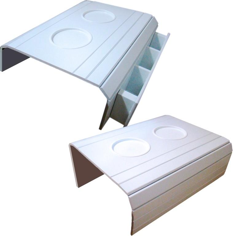 Kit 2 Bandejas para Braço de Sofá Com e Sem Suporte para Controle