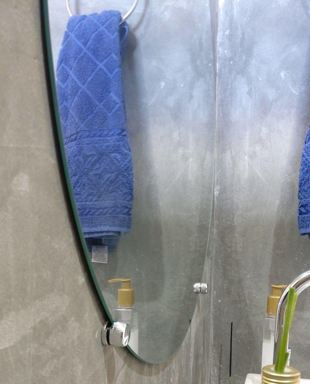Kit 2 Espelho de Banheiro 3mm Com Botão Francês Redondo 70cm