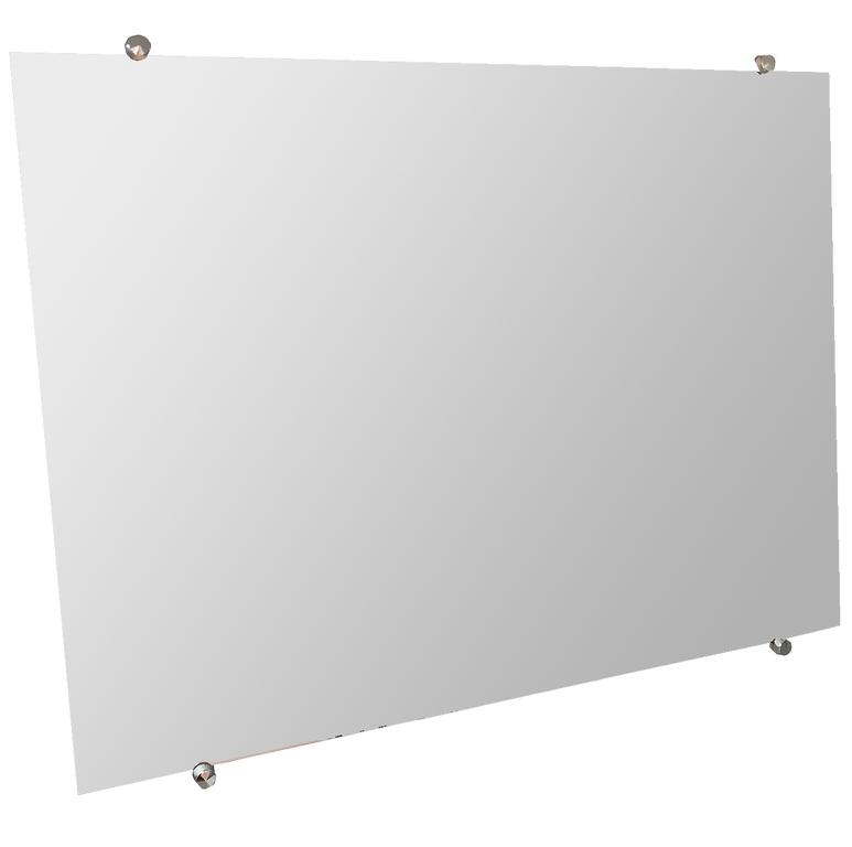 Kit 2 Espelho de Banheiro Casa 3mm Com Botão Francês 30x50cm