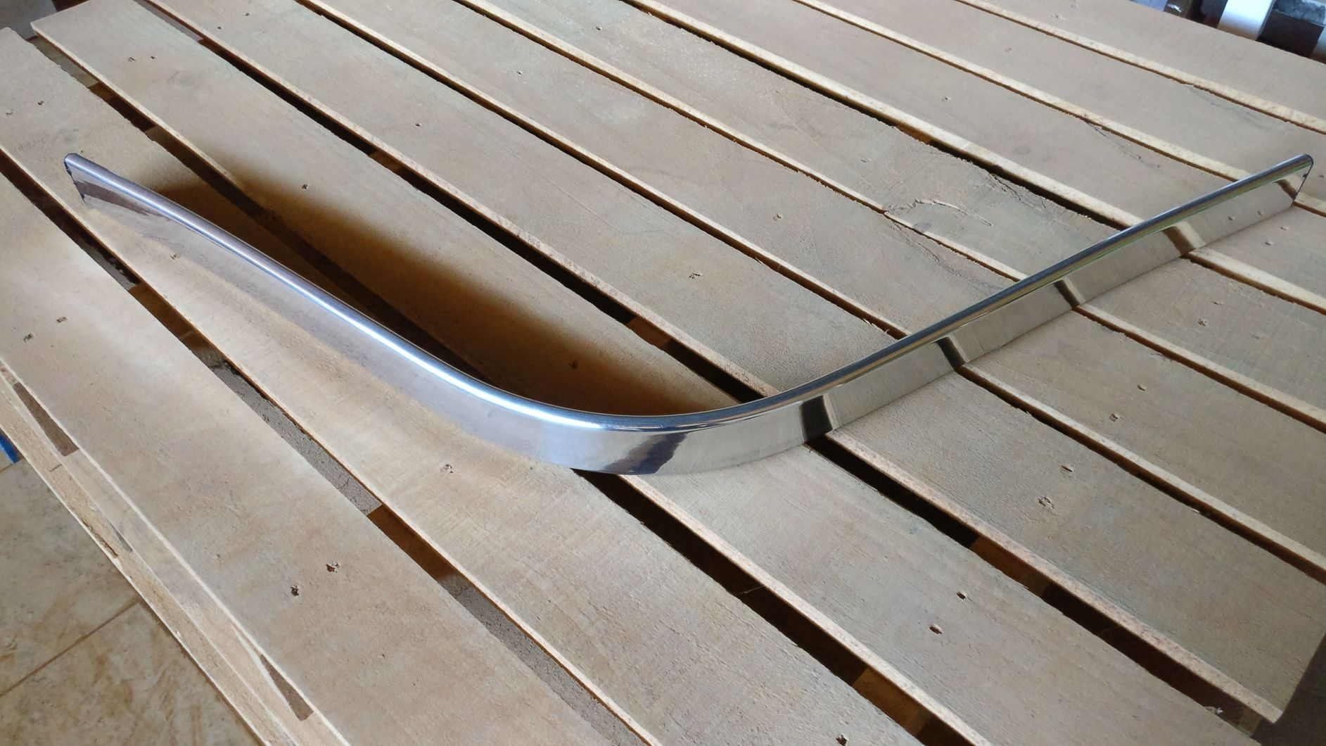 Kit 2 Par Braço em Alumínio Com Bucha Pra Cadeira Poltrona