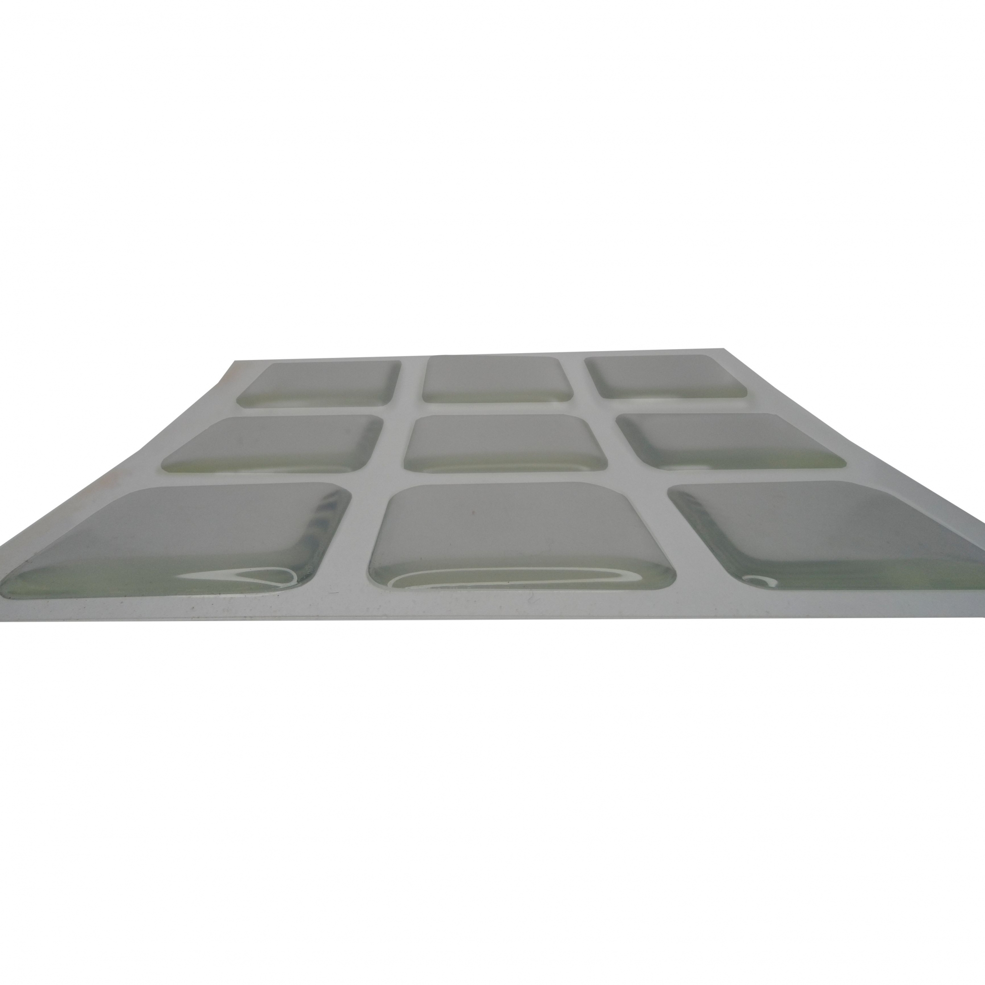 Kit 45 Silicone Vidro Proteção Adesivo Quadrado 2,5 x 2,5 cm