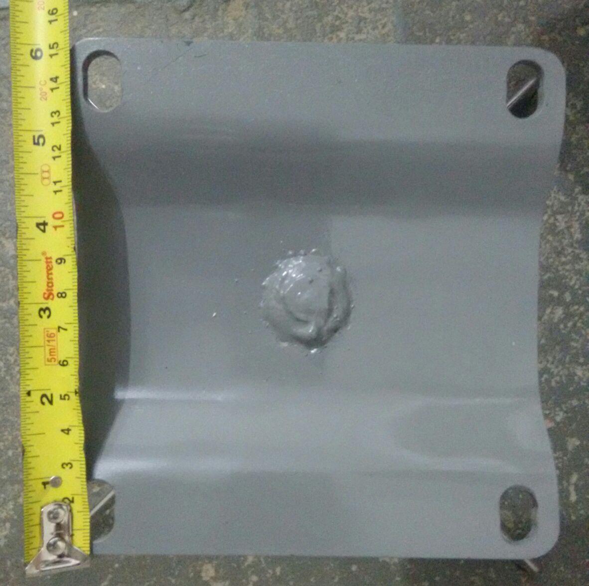 Kit 6 Base Giratória Curva em Alumínio para Poltrona H40cm