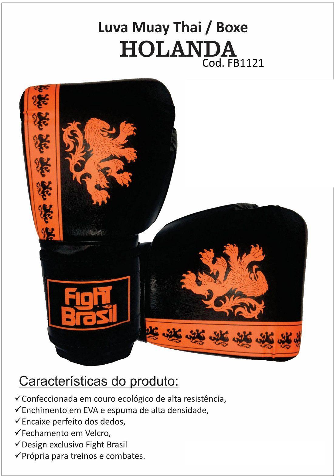 707df399b Luva Muay Thai e Boxe de Treino Fight Brasil Fbx 1374 com NF ...