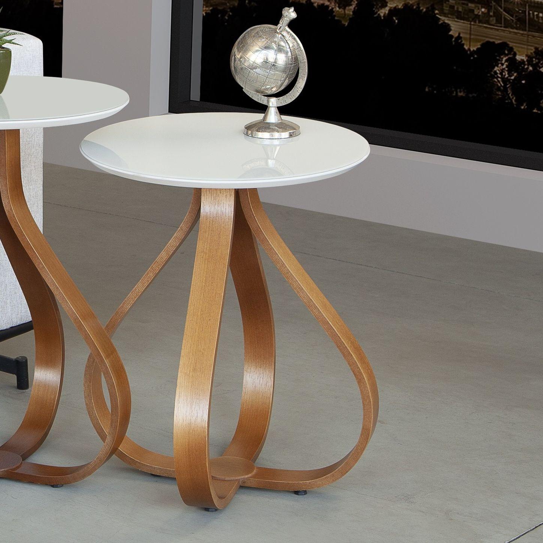 Mesa de Canto Decorativa Cebola Altura 72cm D50cm Mozzoni