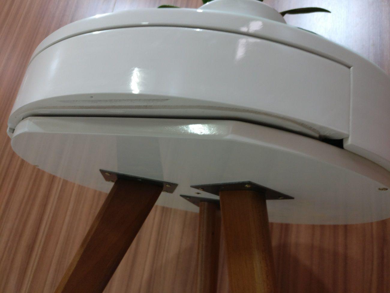 Mesa Decorativa com Gaveta Sala Pé Madeira 3000 Off White
