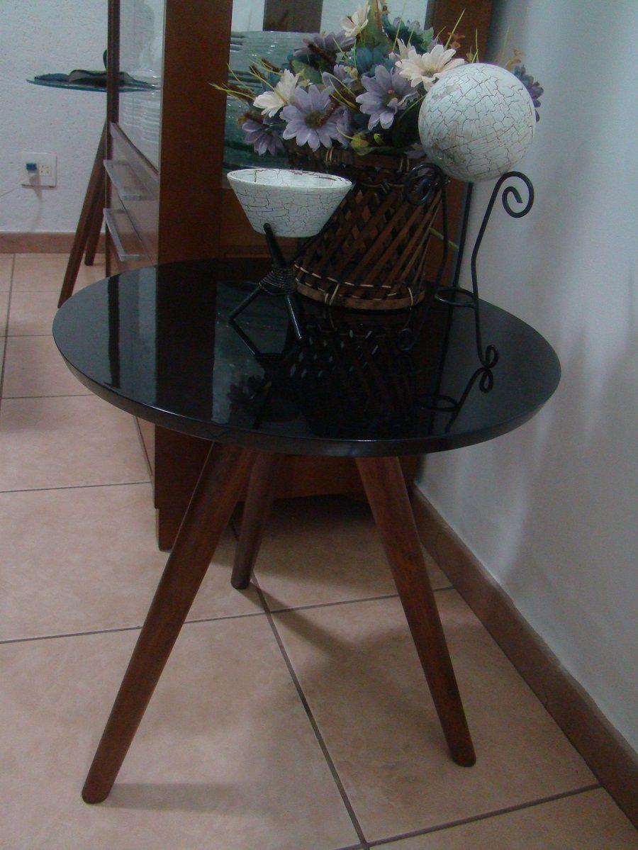 Mesa de Canto Decorativa Sala Casa Tripé Madeira 3013 G Lcm