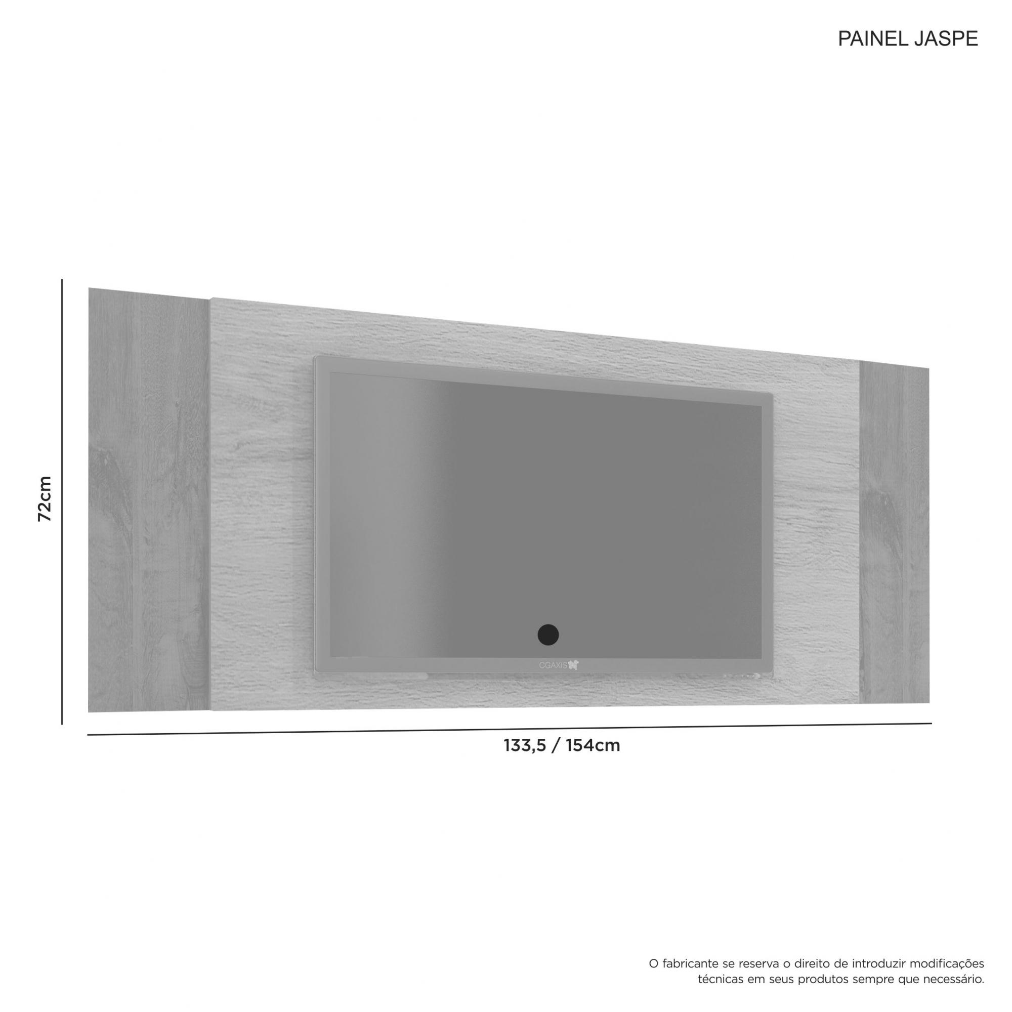 Painel Jaspe Para Sala Tv Casa Quarto Ideal Até 42'' JCM