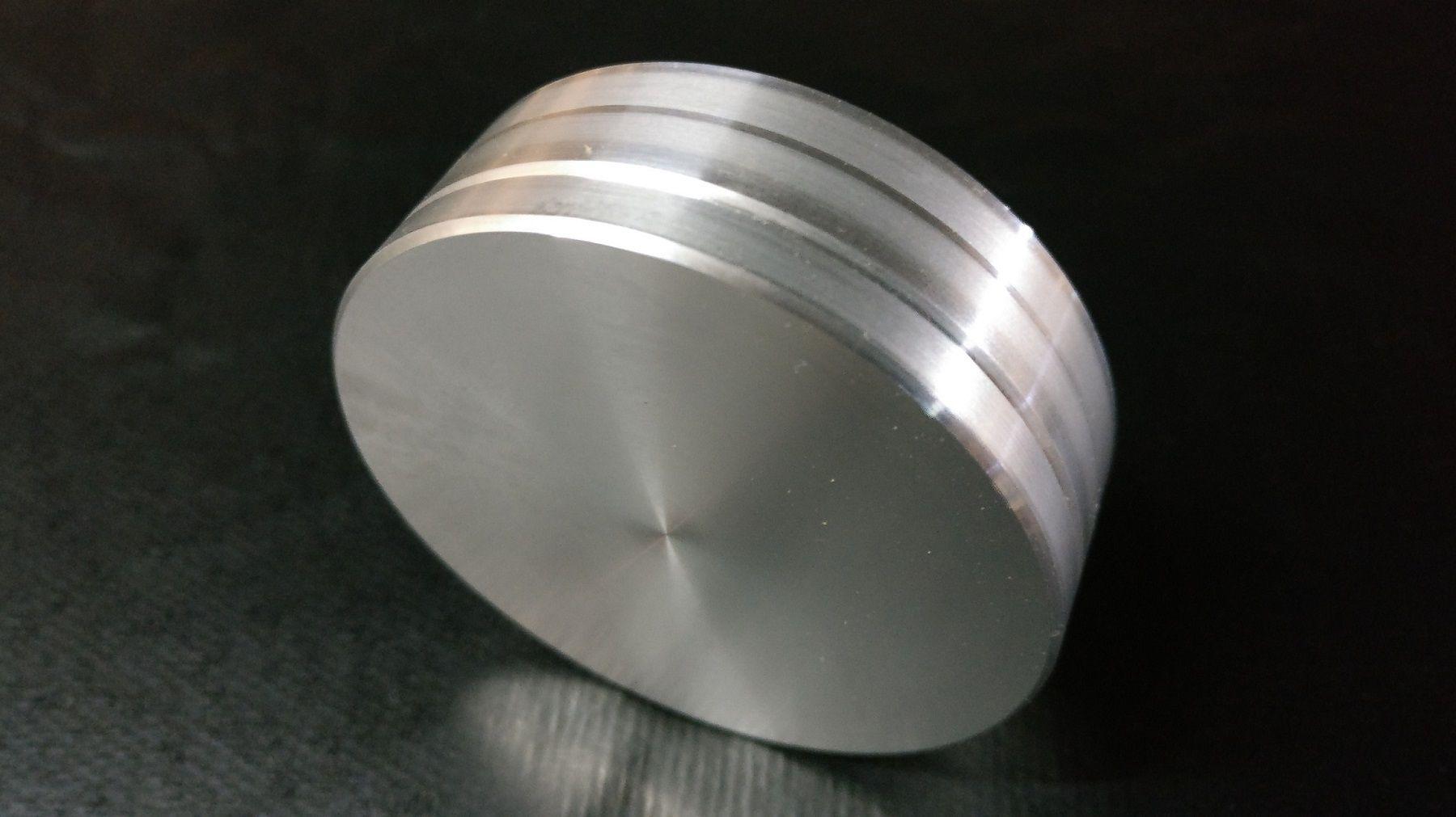 Peça Base para Prato Giratória Sala em Alumínio 5cm diâmetro