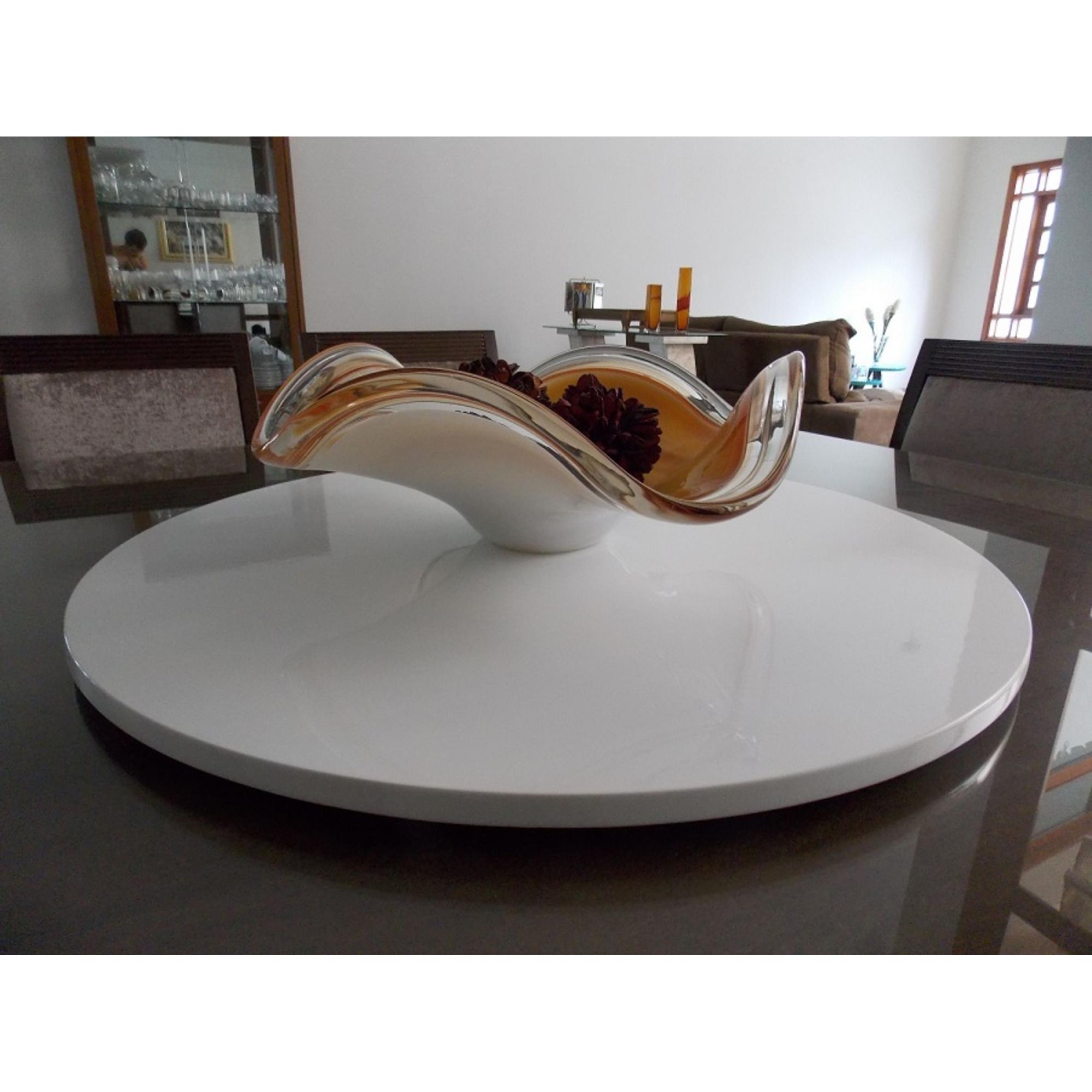 Prato Giratório Decorativo para Mesa na Sala de Jantar 50cm