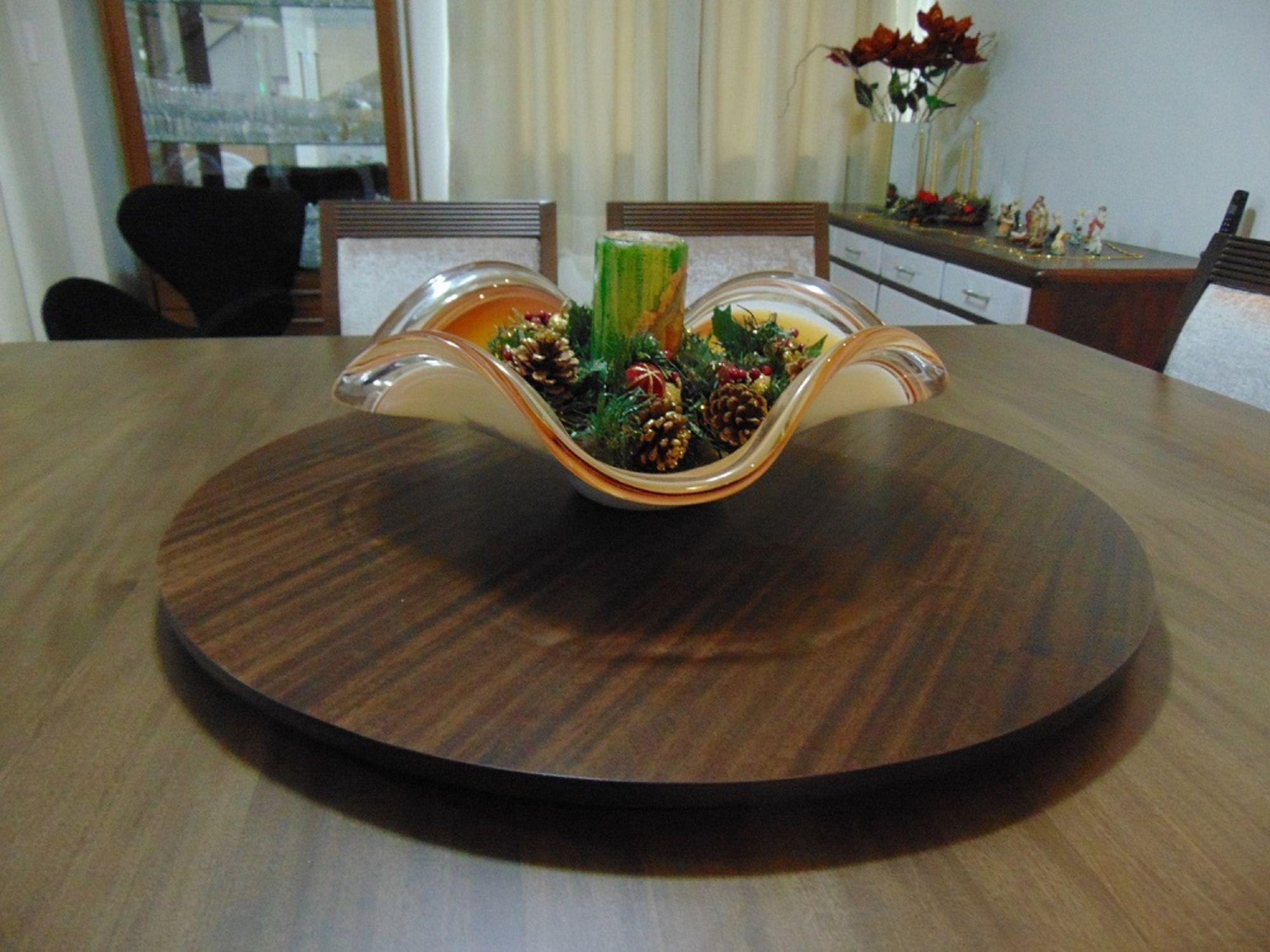 Prato Giratório Decorativo para Mesa na Sala de Jantar 60cm