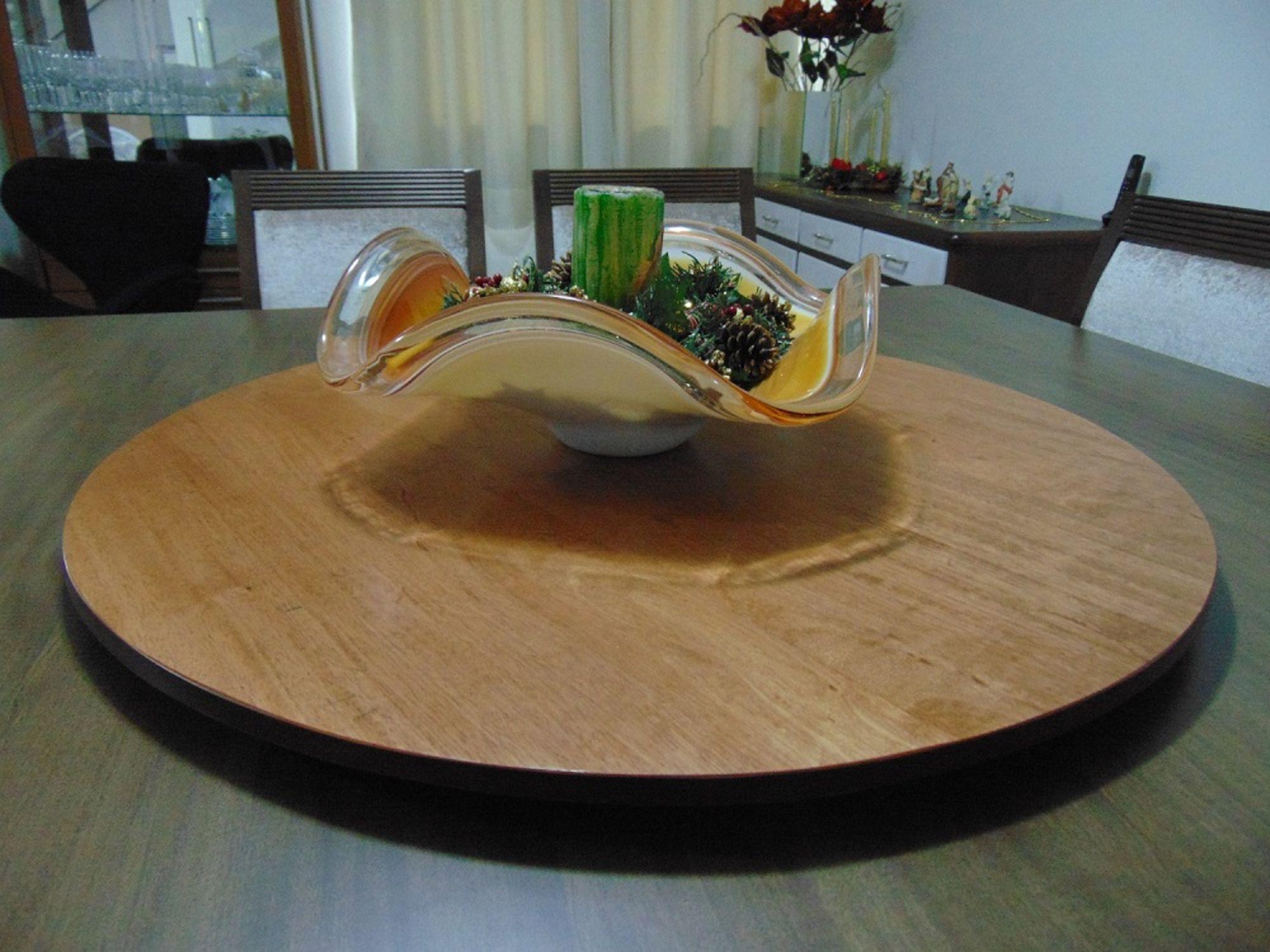 Prato Giratório Decorativo para Mesa na Sala de Jantar 80cm