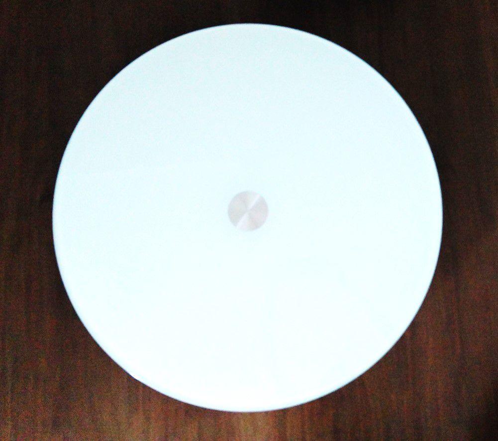 Prato Giratório Vidro Temperado 8mm Mesa Jantar Branco 40cm