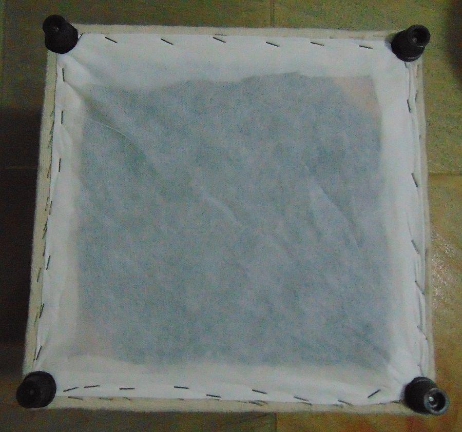 Pufe Decorativo Para Sala Casa Escritório Quadrado 35x37cm