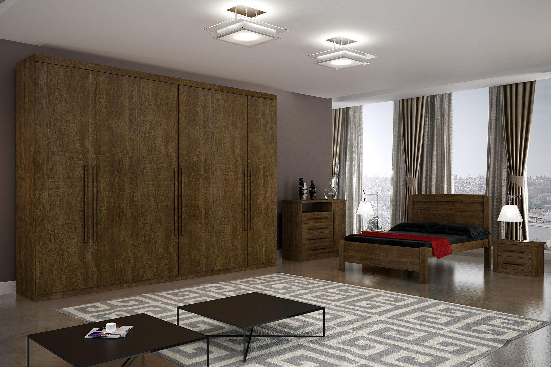 Roupeiro Sonata Plus 6 Portas Salleto Dormitório Quarto Novo