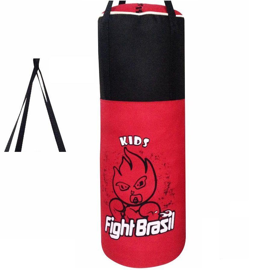 d46caf790 Saco de Boxe Infantil Vermelho Fight Brasil Enviado Cheio Nf ...